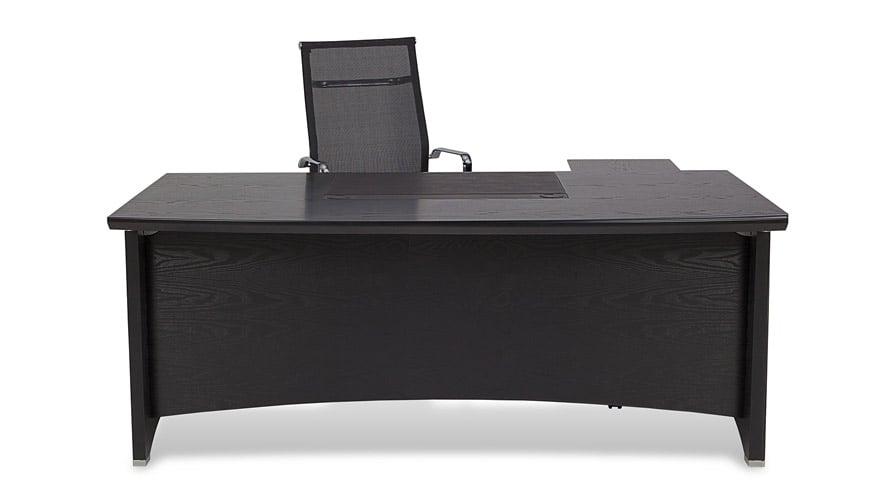 Washington Black Wood Executive Desk With Return Modern