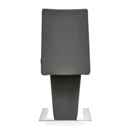 Mesa Modern Dining Chair Dark Grey Microfiber Leather and ...