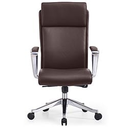 Adjustable Ergonomic Draper Leather Executive Chair With Aluminum Frame |  Zuri Furniture