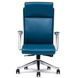 next  sc 1 st  Zuri Furniture & Draper Leather Executive Chair with Aluminum Adjustable Ergonomic ...