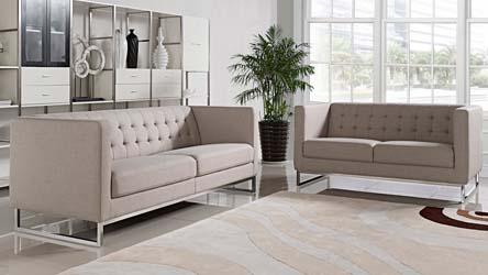 Delta 3 2 1 Sofa Set White Zuri Furniture