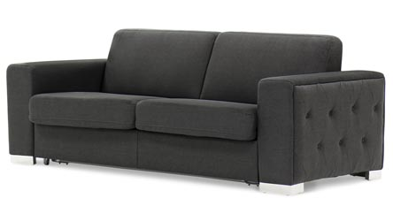 Black brown clubber sleeper sectional sofa zuri furniture for Clubber sofa bed