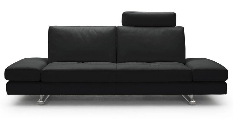Black Bentley Leather Sofa and Loveseat Set
