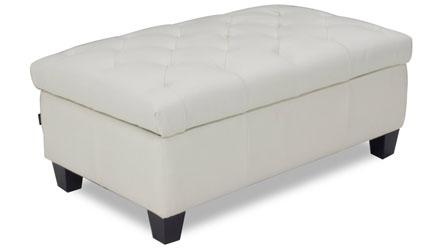 Carson Tufted Contemporary Ottoman White Zuri Furniture