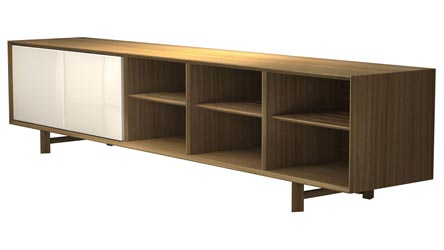 Cashel Media Cabinet   Natural Oak And Beige