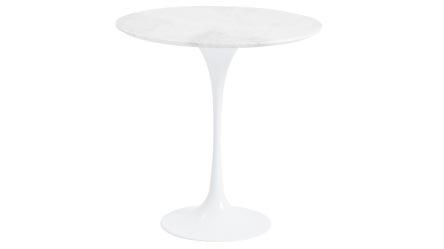 Radinka Chrome Ajustable Glass Side Table Zuri Furniture