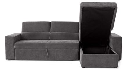 Gray Green Clubber Sleeper Sectional Sofa