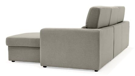 Gray Clubber Sleeper Sectional Sofa