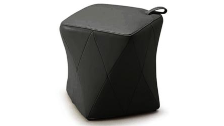 Leather Collections. Harlequin Ottoman