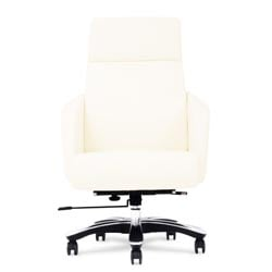 lauren genuine leather aluminum base high back executive chair