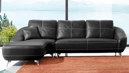Lucy Sectional   Black