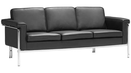 Modern Leather Sofas Contemporary Living Room Furniture Zuri