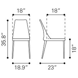 Renata Dining Chair 2 Pc Set