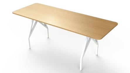 Ford Executive Modern Conference Table In White Square Zuri - Bar height conference table