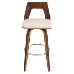 Modern Terrah Bar Stool Walnut Cream Zuri Furniture
