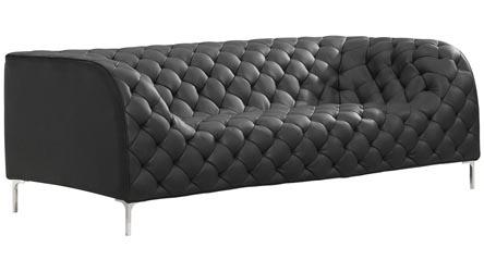 Palms Modular Sectional 3 Seater Sofa Black Zuri Furniture
