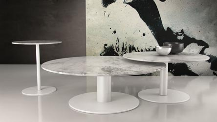 Perla Marble Side Table Zuri Furniture