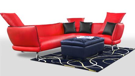 Beige Palazzo Leather Sofa With Tables Zuri Furniture