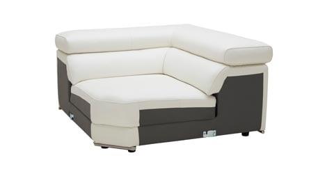 Encore White Leather Sofa Zuri Furniture
